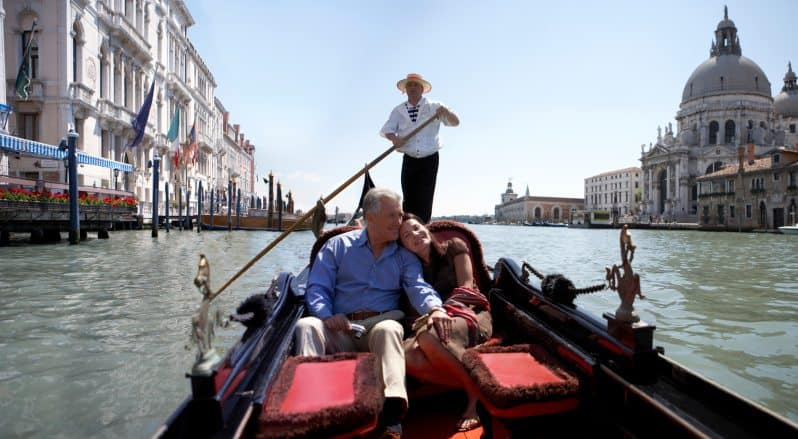 Couple on Gondola Boat