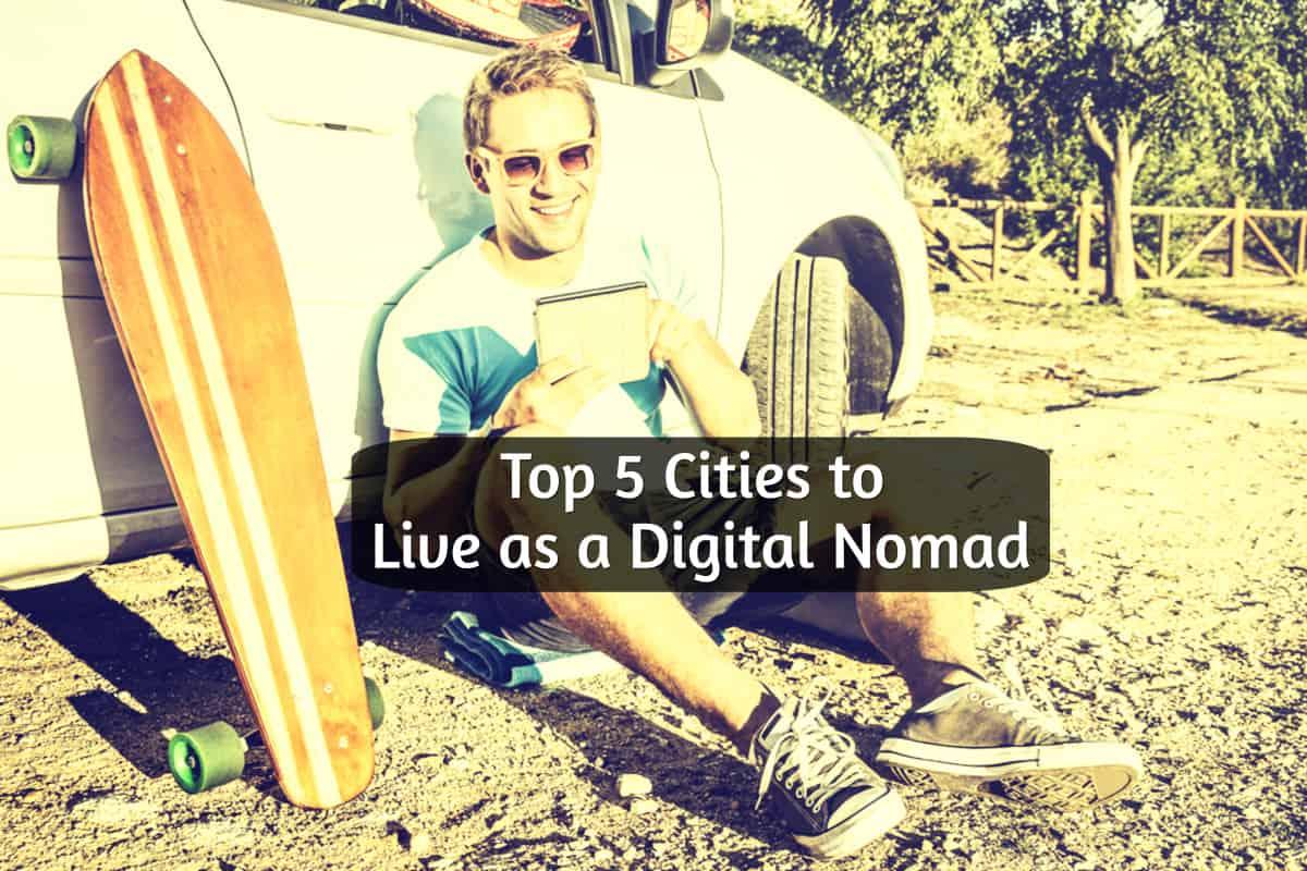 Digital Nomad on beach working