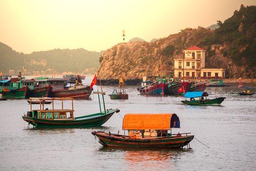 Hanoi Boats on Water