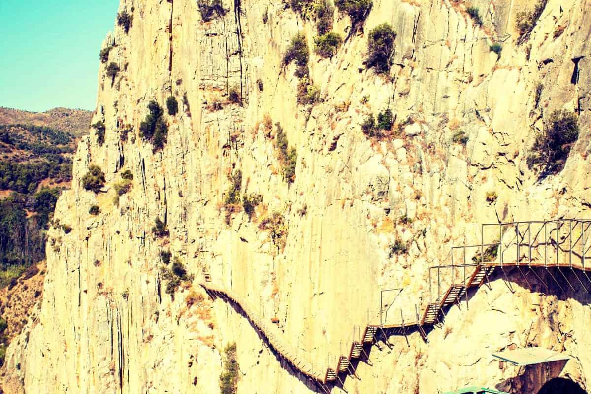 Cliff Hanging Route of El Caminito Del Rey Spain