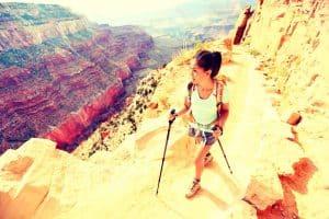 Girl Pair of Hiking Poles Grand Canyon
