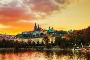 Prague Sunset Old Town