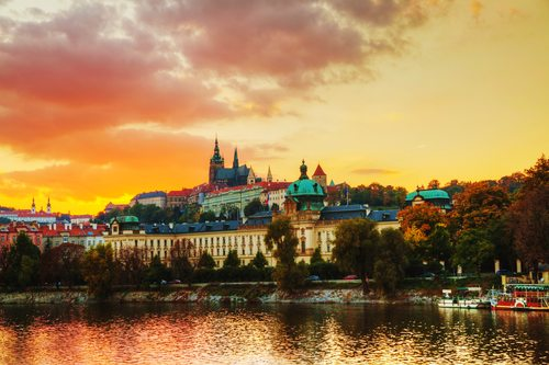Prague Sunset Old Town