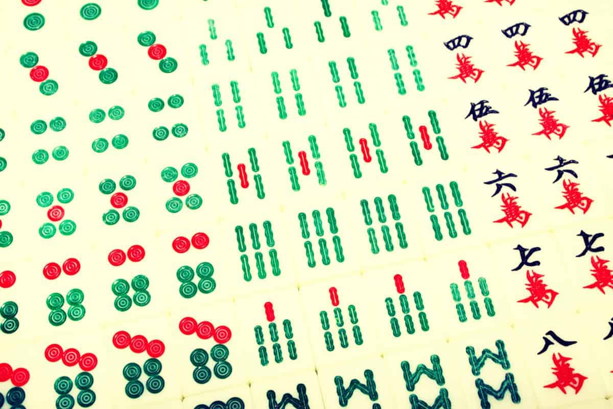 Tiles Used to Play Mahjong