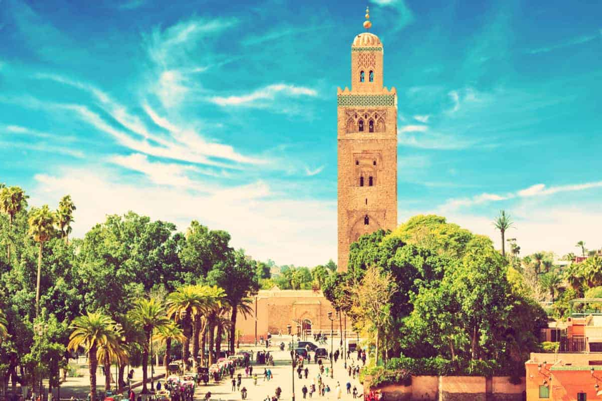 Entrance to Marrakesh (tower) Morocco North Africa