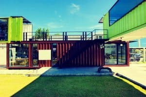 Buildings Created Used Shipping Containers Shopping Center
