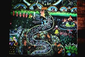 Healing Art Ayahuasca Spirit Represented as Snake