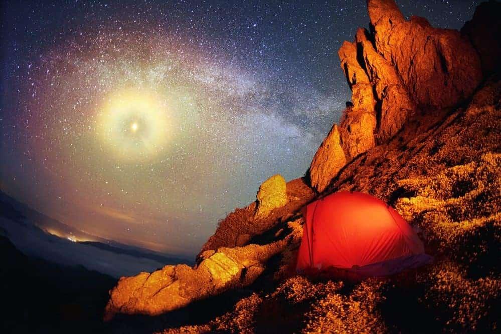 Camping in Sedona Tent Stars