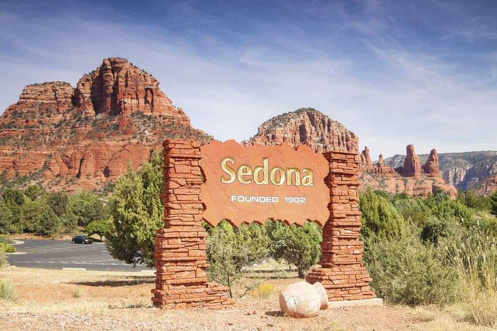 Mountains, Sign, Sedona Landscape