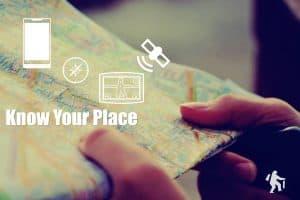 GPS, map, compass, satellite