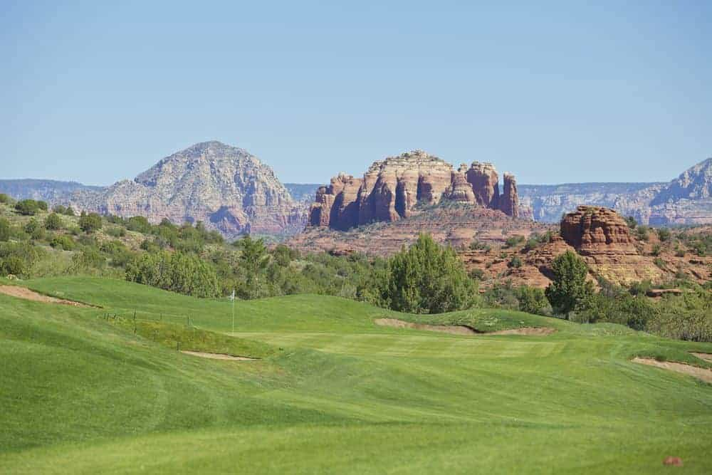 golf green in sedona