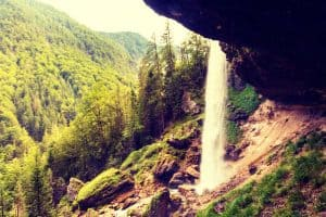 waterfall in Triglav National Park, Julian Alps, Slovenia