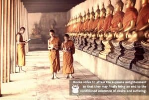 Monks Strive for an End to suffering