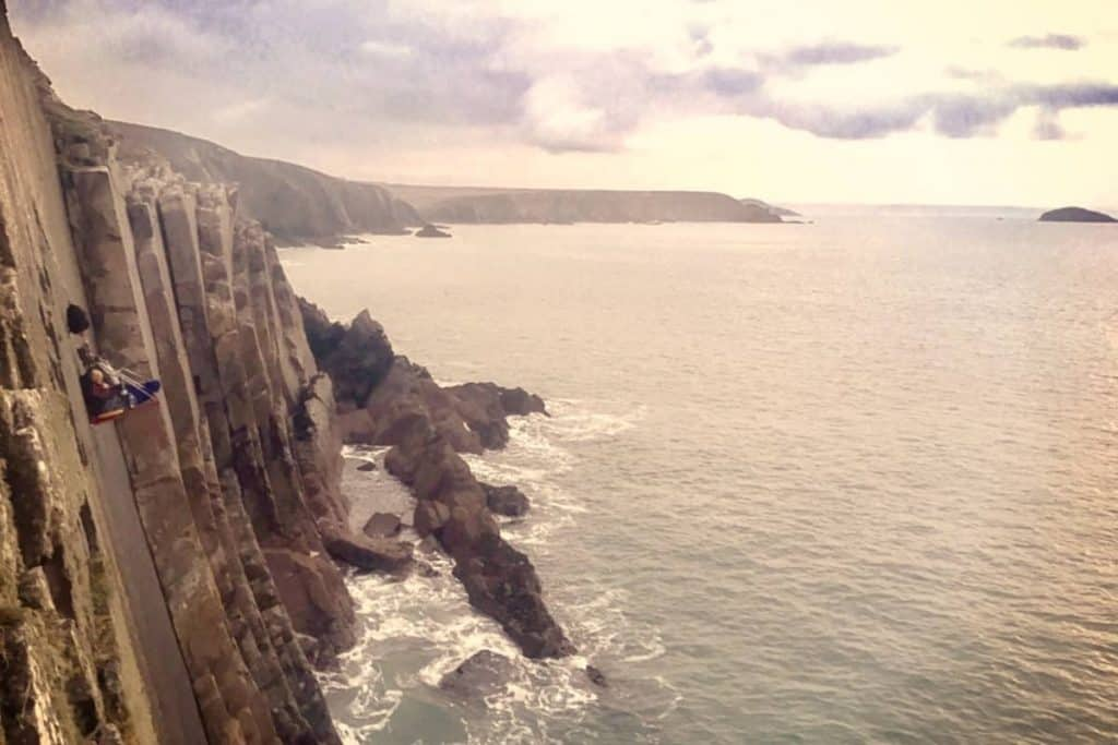portaledge camping UK ocean cliffs